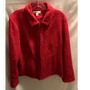 Size Large Coldwater Creek Jacket Red Sparkle